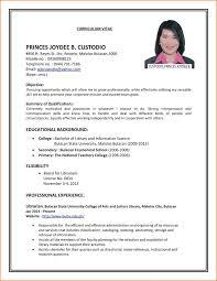 Resume For Job Example Curriculum Vitae Job Objective Sample