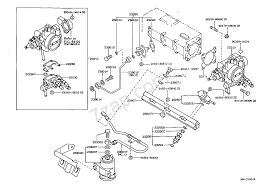 Fuel injection system illust no 1 of 2 8705 4age toyota corolla cp hb ee90 ae92 ce90 asia and middle east