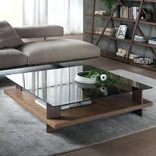 glass top coffee tables table captivating dark brown square