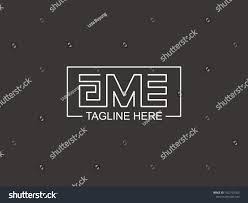 Gme Text Logo Logotype Gme Stock Vector ...