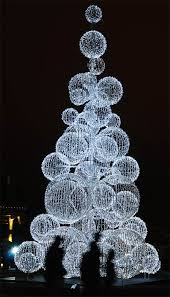 Candace, we only need like 20 more of the light up Christmas wire balls to  make this a great floor tree by the stage!