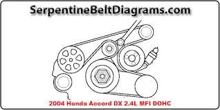 2004 honda accord dx 2 4l dohc serpentine belt