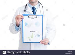 Anonymous Doctor Showing Medical Charts Isolated On White Background ...