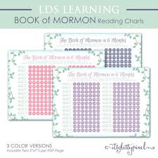 Book Of Mormon Reading Chart 90 Days Book Of Mormon Scripture Reading Chart Lds 6 Month Young Women Personal Progress Relief Society Digital Printable Sunday School Yw Schedule