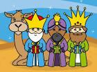 Resultado de imagen de dibujo  de los reyes magos infantiles