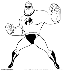 The Incredibles Coloring Pages Coloring Pages For Kids Disney