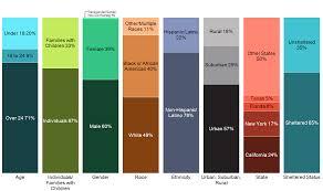 America Race Chart Profile Of Americas Homeless Mekko Graphics