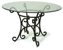 wrought iron tables with glass tops round iron table glass top dining table with wrought iron