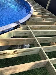 building above ground pool deck designs