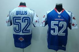 Stitched With Nfc Bowl Willis Shipping Jersey Free 2010 52 Pro Cheapest Sale Nfl Patrick 49ers