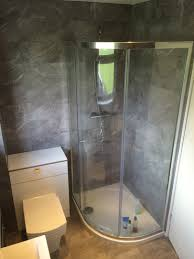 flush shower tray with bathroom installation in leeds