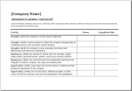 Business Checklist Template Under Fontanacountryinn Com