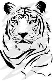 tiger face clipart black and white. Beautiful Black Skull With Snake Crossing In Black And White Clip Art  Download Throughout Tiger Face Clipart Black And White
