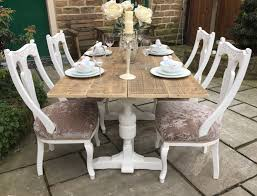 vintage farmhouse dining table 4 antique chairs seats 6