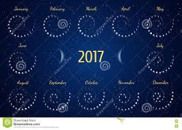 Moon Chart Astrology Vector Astrological Spiral Calendar For 2017 Moon Phase