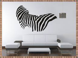 Zebra Living Room Zebra Wall Decals Livingroom Zebra Wall Decals Ideas Home
