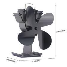 2018 Aktualisiert 4 Blade Heat Powered Fan Für Holzofen Log Brenner Kamin Eco Friendly Und Effiziente Fan Schwarz