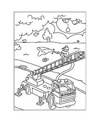 97 Dessins De Coloriage Camion Pompier Imprimer Imprimer