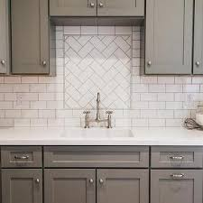 white subway tile patterns. Perfect Patterns Gray Shaker Kitchen Cabinets With White Subway Tile Herringbone Sink  Backsplash For Patterns A