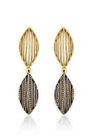 itrana dual marquise shaped drop earrings wedding function dresses indian necklace