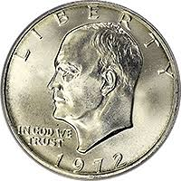 1972 Eisenhower Silver Dollar Value Chart 1972 Eisenhower Dollar Value Cointrackers