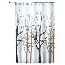 interdesign cameo shower curtain tension rod forest fabric x