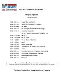 Sample Of Agenda Fillable Online Sample Agenda For Nationwide Seminars Fax