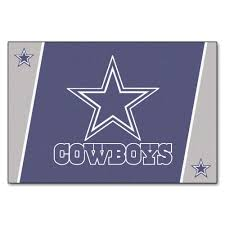 fanmats dallas cowboys 5 ft x 8 ft area rug