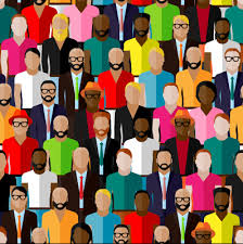 People Pattern Simple Different People Pattern Seamless Vector 48 Free Download