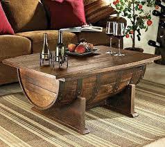 used wine barrel furniture. turn a barrel into coffee table used wine furniture