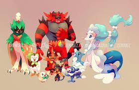 Alola Starter Family | Pokémon Sun and Moon