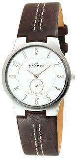 17 best images about watch wants men s watches love this watch skagen men s 433lsl1 slim brown leather watch watches amazon