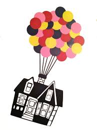 Up House Balloons Floating House With 32 Hot Air Balloons Vinyl Wall Decal Up