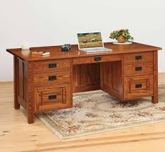 mission style solid oak office computer. Franklin Mission Executive Desk From Dutchcrafters Amish Furniture Throughout Style Solid Oak Office Computer
