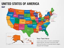 Usa Map For Powerpoint United States Of America Map Powerpoint Map Slides United