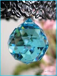 30mm aqua faceted cut crystal ball