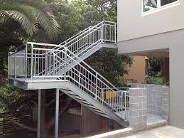 Metal handrails for stairs Modern Steel Stairs Seancwume Steel Handrail Fabrication Steel Fabrication Services