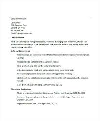 Technical Resume Objective Examples Simple Management Trainee Resume Objective Examples Enterprise Professional