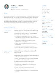 Police Officer Resume Templates 2019 Free Download Resume Io