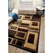 black and tan area rug home dynamibazaar gal 1196 black brown 8 ft 10 ft indoor area rug 1 1196 469 the