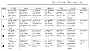 Household Cleaning Chore Chart Throwback Thursday Chore Chart For Adults House Of Bennetts
