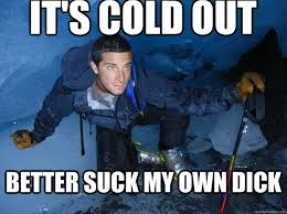 Bear Grylls Chilly Willy memes | quickmeme via Relatably.com