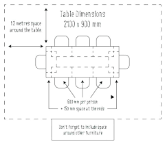 8 person dining table dimensions