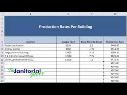 Production Cleaning Rate Chart Or Calculator