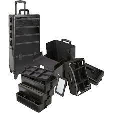 4 in 1 rolling professional makeup case w 4 360 spinning wheels