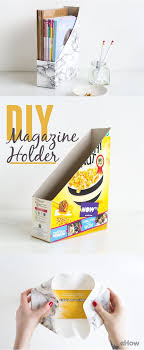 Magazine Holder From Cereal Box How to Make a Desk Magazine Holder Magazine holders Desks and 57