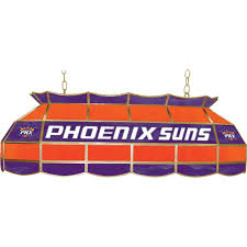 nba phoenix suns nba 3 light stained glass hanging lamp