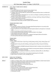 Nurse Tech Resume Nurse Tech Resume Samples Velvet Jobs 5