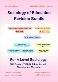 How To Revise A Paper A Level Sociology Of Education Revision Bundle
