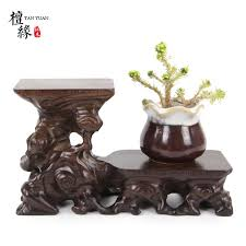 Asian Display Stands Redwood art ware carved collection base teapot cup support bonsai 28